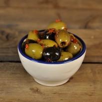 Olijven italia mix zonder knoflook.